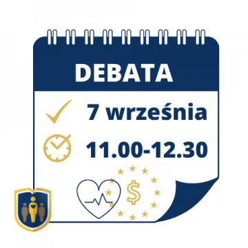 Zapraszamy na debatę ekspercką dotyczącą możliwości pozyskiwania środków finansowych na inicjatywy zdrowotne